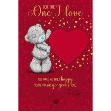 One I Love Pop Up Hearts Me to You Bear Valentines Day Card