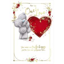 One I Love Pop Up Heart Me to You Bear Valentine's Day Card