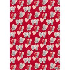Tatty Teddy Love Hearts Gift Wrap