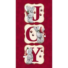 JOY Letters Me to You Bear Christmas Card
