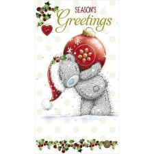 Seasons Greetings Bear With Bauble Me to You Bear Christmas Card