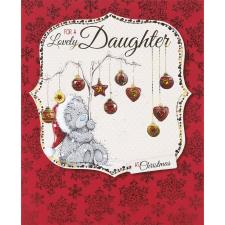 Lovely Daughter Me to You Bear Handmade Christmas Card