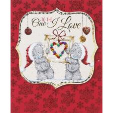 One I Love Me to You Bear Handmade Christmas Card