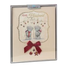 Husband Me to You Bear Handmade Boxed Christmas Card