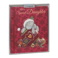 Special Daughter Me to You Bear Handmade Boxed Christmas Card