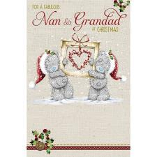 Fabulous Nan & Grandad Me to You Bear Christmas Card