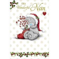 Wonderful Nan Me to You Bear Christmas Card