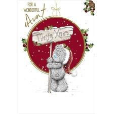 Wonderful Aunt Me to You Bear Christmas Card