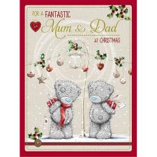 Fantastic Mum & Dad Large Me to You Bear Christmas Card