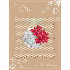 Wife at  Christmas Large Me to You Bear Card