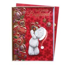 Boyfriend Me to You Bear Handmade Boxed Christmas Card