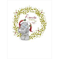 Fiancee You Make Me Truly Happy Large Me to You Bear Christmas Card
