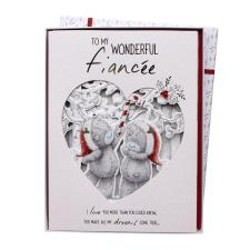 Fiancee Me to You Bear Luxury Boxed Christmas Card