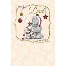Dad From Us Both Me to You Bear Christmas Card
