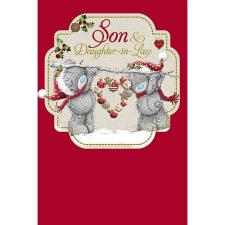 Son & Daughter-in-Law Me to You Bear Christmas Card