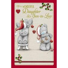 Wonderful Daughter & Son-in-Law Me to You Bear Christmas Card