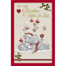 Great Brother and Sister in Law Me to You Bear Christmas Card