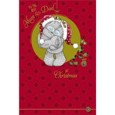 The Best Mum & Dad Me to You Bear Christmas Card