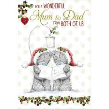 Wonderful Mum & Dad From Both of Us Me to You Bear Christmas Card