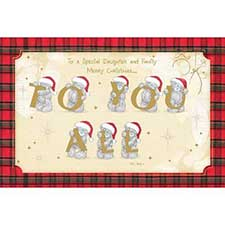 Daughter & Family Me to You Bear Christmas Card