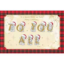 Grandson & Family Me to You Bear Christmas Card