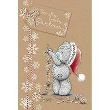 Lovely Partner Me to You Bear Christmas Card