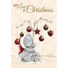 Tatty Teddy with Decorations On Branch Me to You Bear Christmas Card