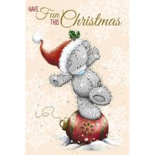 Tatty Teddy Balancing On Decoration Me to You Bear Christmas Card