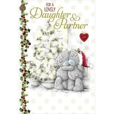 Lovely Daughter & Partner Me to You Bear Christmas Card