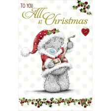 To You All Bear Dressed as Santa Me to You Bear Christmas Card