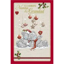 Wonderful Nanna & Grandad Me to You Bear Christmas Card