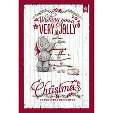 Very Jolly Christmas Tree Decs Me to You Bear Card