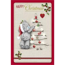 Happy Christmas Bear With Tree Me to You Bear Christmas Card