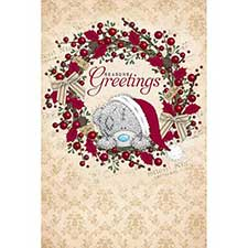 Seasons Greetings Me to You Bear Pop Up Christmas Card