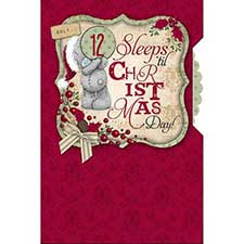 Sleeps Til Christmas Pop Up Me to You Bear Card