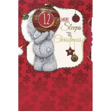 Sleeps Til Christmas Me to You Bear Countdown Christmas Card