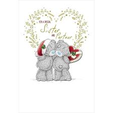 Special Sister and Partner Me to You Bear Christmas Card