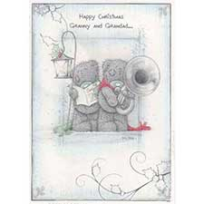 Granny and Grandad Me to You Bear Christmas Card