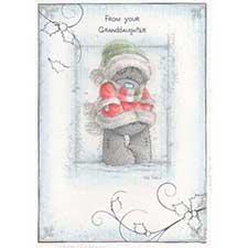 Granddaughter Me to You Bear Christmas Card