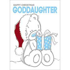 Goddaughter Me to You Bear Christmas Card