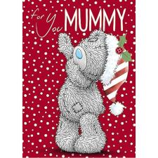 For You Mummy Bear With Hat Me to You Bear Christmas Card