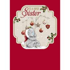 Super Sister Me to You Bear Christmas Card