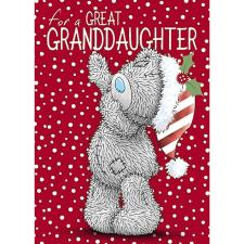 Great Granddaughter Me to You Bear Christmas Card
