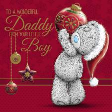 Daddy From Little Boy Me to You Bear Christmas Card