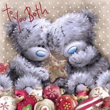 To You Both Me to You Bear Christmas Card