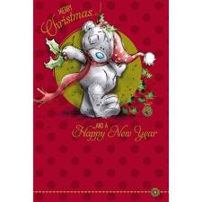 Merry Christmas Bear With Holly Me to You Bear Christmas Card