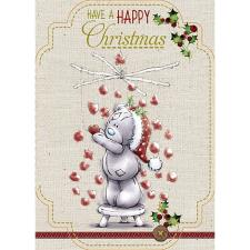 Happy Christmas Bear Hanging Hearts Me to You Bear Christmas Card