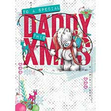 Daddy Me to You Bear Christmas Card