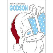 Fantastic Godson Me to You Bear Christmas Card