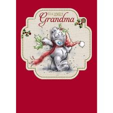 Lovely Grandma Me to You Bear Christmas Card